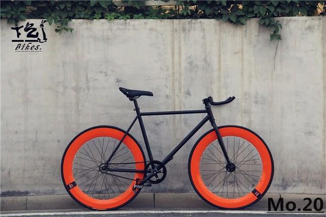 0a5d97f3a72 1 piece fixie Bicycle Fixed gear bike 46cm 52cm 56cm DIY single speed road  bike track fixie bicycle fixie bike