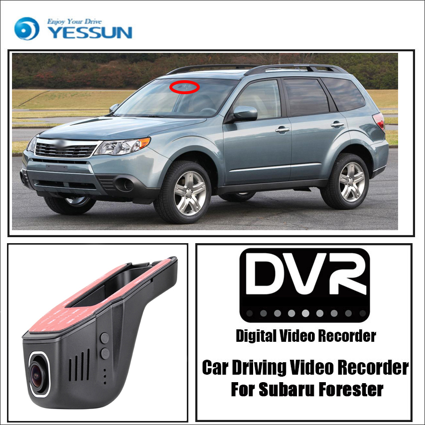 цена на For Subaru Forester / Car Driving Video Recorder Wifi DVR Mini Camera Black Box / Novatek 96658 FHD 1080P Dash Cam Night Vision