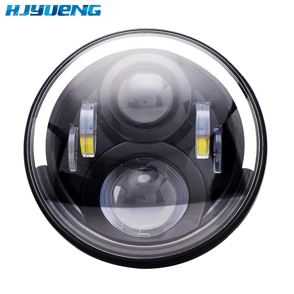 """""""7"""""""" фары с Ангел света для Honda Шершень СВ400 CB500 CB1300 Шершень 250 600 900 ВТЭ 7-дюймовый мотоцикла СИД DRL проектор"""""""