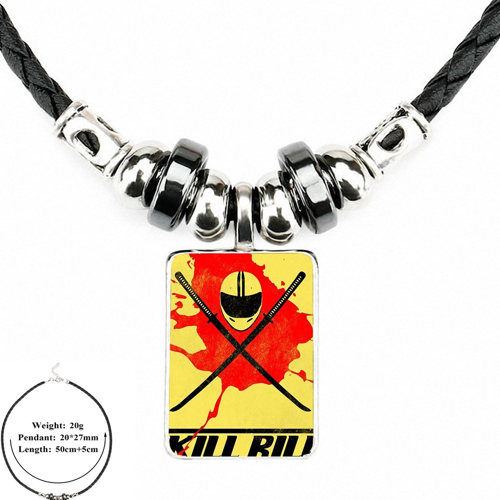 Kill bill Vintage Black Leather Necklace 1