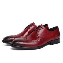 Fashion black / brown tan oxfords shoes mens dress shoes genuine leather business shoes formal mens wedding shoes