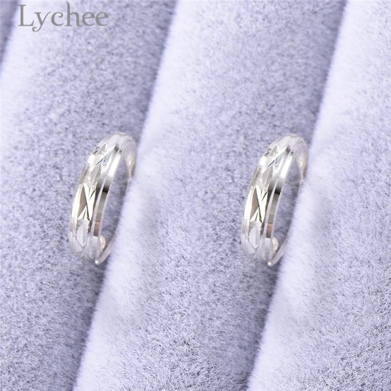 Lychee Vintage Carved Flower Earrings 925 Sterling Silver Jewerlry For Women Fine Jewelry Fashion Jewelry Female