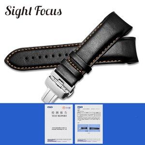 Image 2 - מקורי עגל עור גברים רצועת השעון 1853 עבור Tissot שעון רצועת T035410A 407A Couturier 22 23 24mm להקות לצפות החגורה צמיד