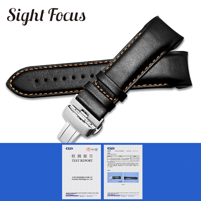 Calfskin Leather Men's Watchband 1853 for Tissot Watch Strap T035410A 407A Couturier 22 23 24mm Watch Bands Belt Wrist Bracelets