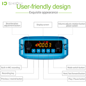 Image 2 - SHIDU 25W אולטרה נייד מיני אודיו Bluetooth רמקול הקלטה UHF אלחוטי מיקרופון קול מגבר עבור מורים תיירות S28