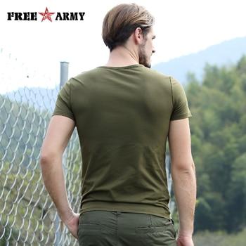Free Army T Shirt Male Top Quality Cotton Army Green Casual Printing Short Sleeve T Shirt Men Brand Clothing Fashion T-Shirt 2
