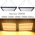 Super brillante 120 W 240 W Led Grow luz cuántica tablero de espectro completo Samsung LM301B SK 3000 K 3500 K 4000 K 660nm Meanwell conductor DIY