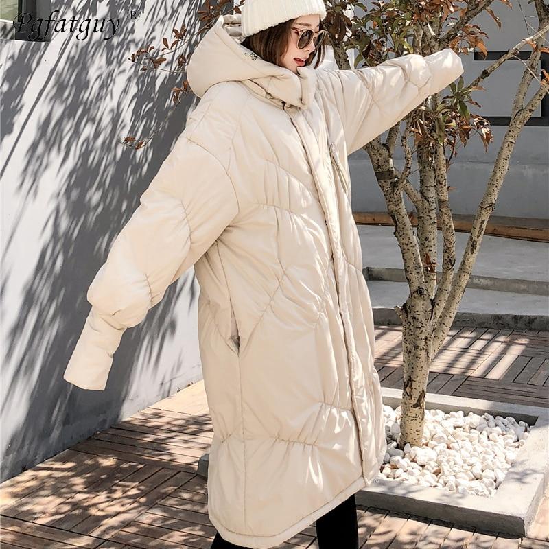 Parka Beige Manteau À Col Vestes Beige Plissé En Longue Montant Coton Épaissir noir Rembourré D'hiver Royal Surdimensionné Femelle Femmes Chaud bleu Capuchon gq5wZ57