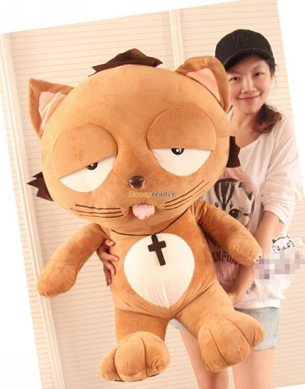 Fancytrader 35\'\' 90 Korean TV Soaps Plush Stuffed Lzay Dinga Cat, Free Shipping FT50250 (1)