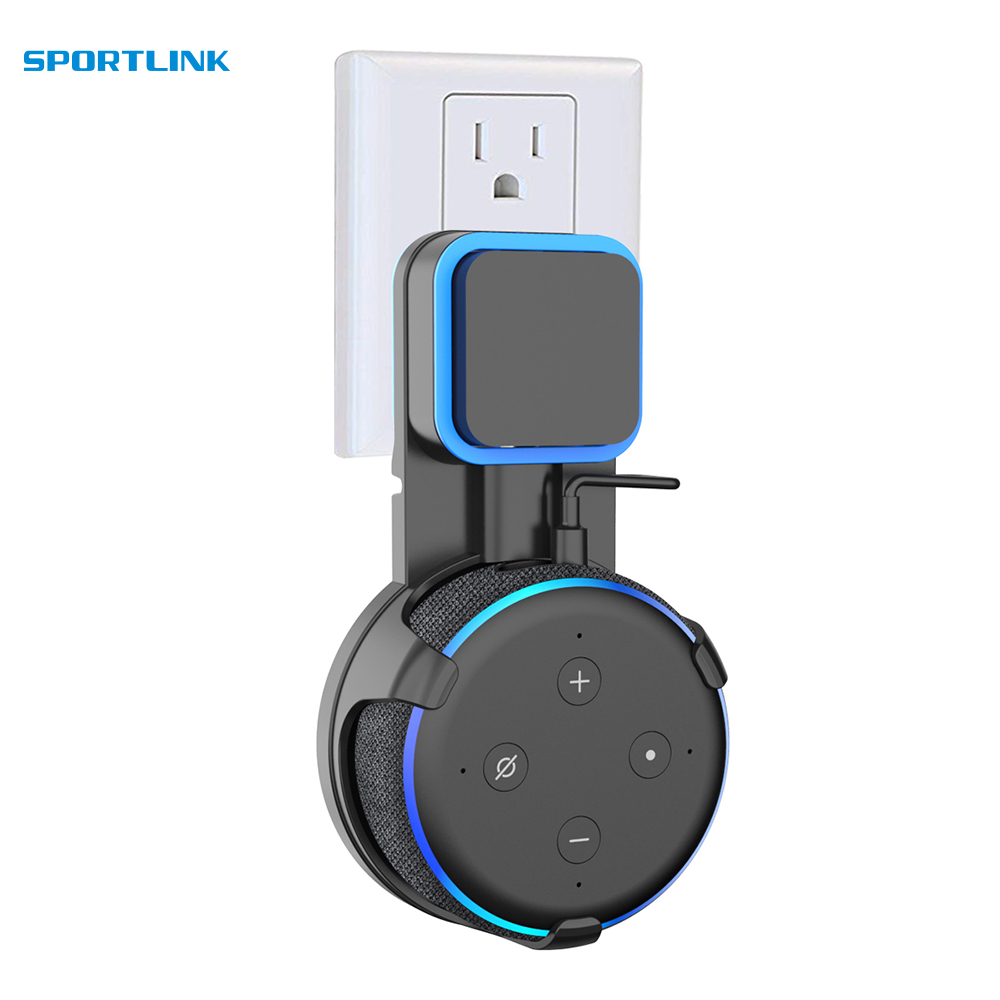 Outlet Wall Mount Hanger Holder Stand For Amazon Alexa Echo Dot 3nd Generation Space Saving Stand Bracket Assistants Accessories