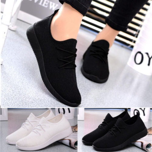 Women s Lace Up Sports Shoes Fashion Breathable Casual Sneakers Shoes Mesh Breathable 5Colors Plus Size