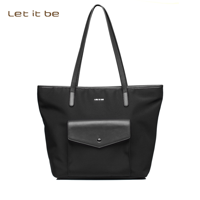 2016 new design female bag casual tote bag women shoulder bag oxford nylon bags let it be brand waterproof bolsas 2016 autumn and winter new casual waterproof nylon shell bag soft bag portable women shouid bags dd5023