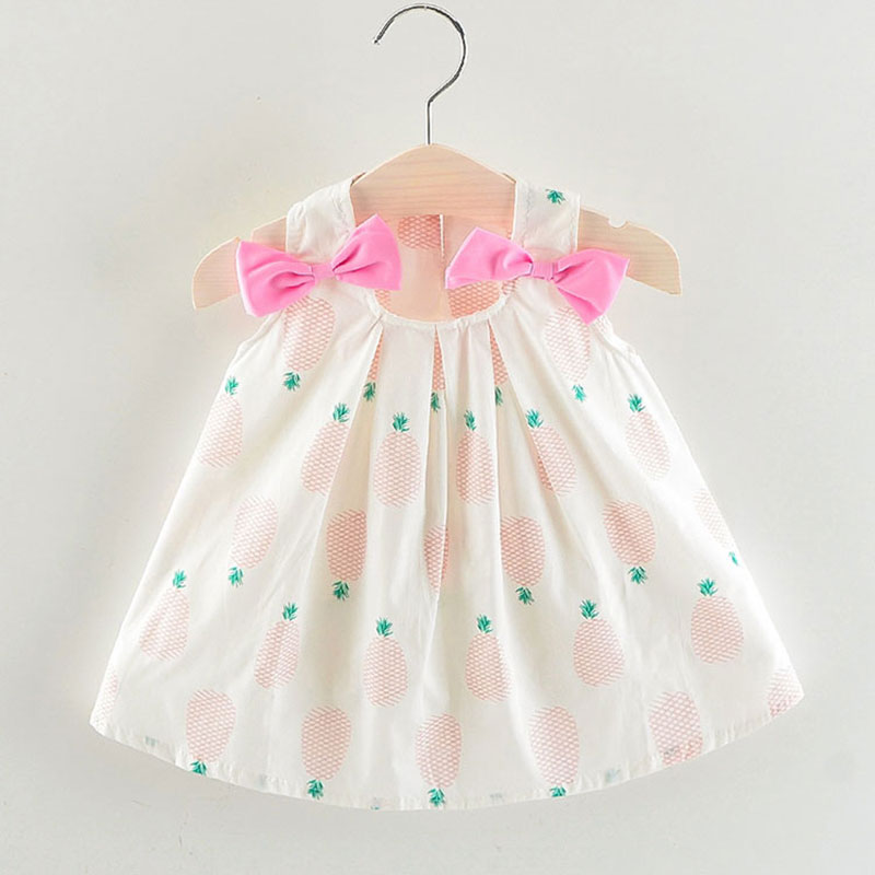 1f390bfe5ff15 Summer newborn infant baby girl kids clothes design print dress for 1st  birthday cute baby girls clothing princess dresses dress