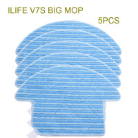Original ILIFE V7S Big Mop Cloths 5 Pcs Of Robot Vacuum Cleaner Spare Parts From The