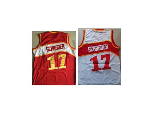 best service 35905 ee09f € 35.94 |# 17 Dennis Schroder Jersey Atlanta blanc, Rouge, Mens Throwback  Hardwood Classics Basketball cousu nom, Nombre jersey, Taille s xxl dans ...
