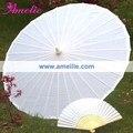 Frete grátis! Guarda-chuva Chinês para o Casamento De Seda branca