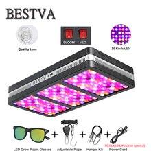 BestVA светодиодный светильник для выращивания Elite600W 1200 Вт 2000 Вт полный спектр для комнатных теплиц для выращивания тентов отражатель двойной переключатель лампы для растений