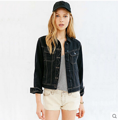 Black Denim Jacket For Women bAAbdV