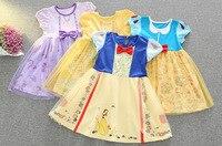 Kinder Kleidung Baby Mädchen Kleid Prinzessin Schneewittchen Belle Sofia Kostüm Mädchen Kinder Geburtstag Party Bling Fancy Halloween Kleid