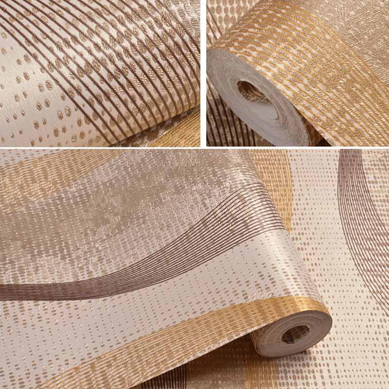 Купить с кэшбэком behang Modern 3D Abstract Wall Paper Roll Washable PVC Embossed Wave Strip Wallcovering Living Room Bedroom papel de parede