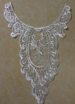 FREE SHIPPING 23.5*36.5cm organza embroidery applique collar,wedding dress and skirt accessories,XERY14439G