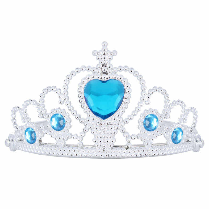 Shiny Blue Rhinestone Tiara Crown Wedding Birthday Party Hair Accessories