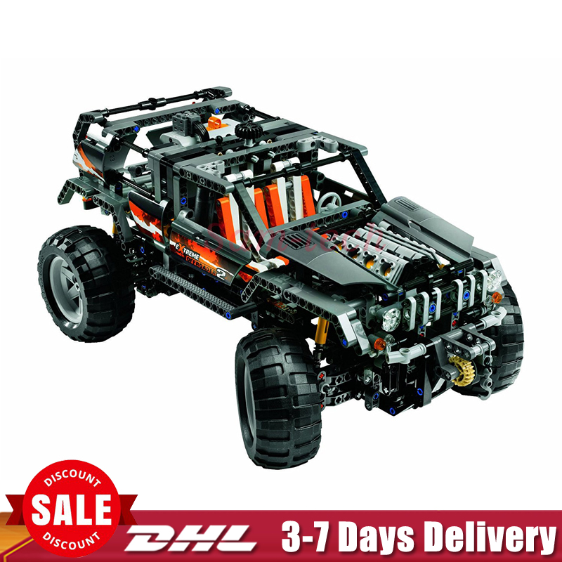 In Stock Lepin 20030 1132Pcs Technic Ultimate Series The Off-Roader Set Children Building Blocks Bricks Toys Model Gifts 8297 lepin 20030 1132pcs technik ultimate off roader cars legoingly 8297 sets building nano block bricks toys for boy gifts