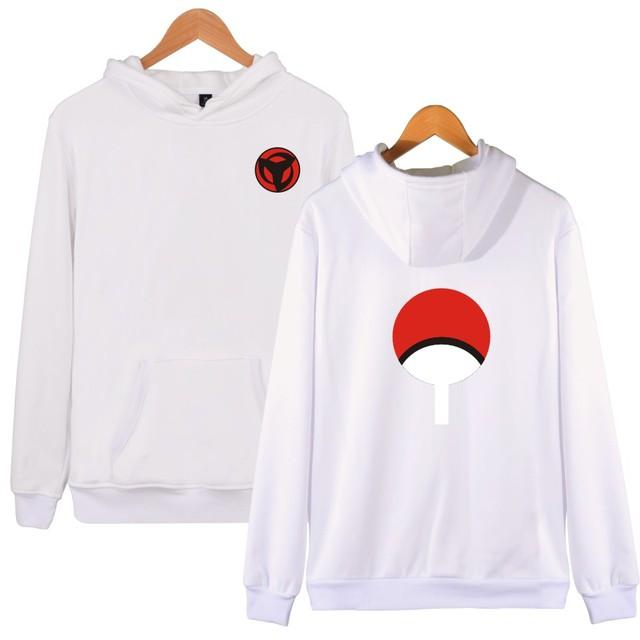 BTS Naruto Hoodies Sweatshirts Uchiha Syaringan Hooded Boys Fashion Hokage Ninjia Men/women Classic Cartoon printed Clothes 4xl