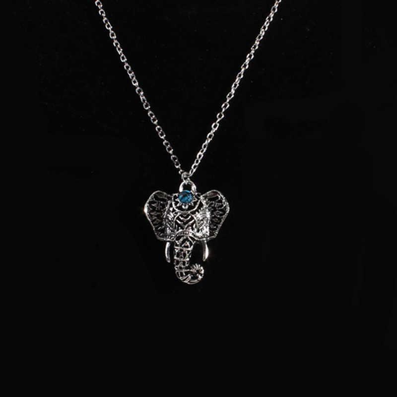 Europejski i amerykański modny słoń naszyjnik maskotka łańcuszek z wisiorek długość do linii obojczyków kobiet imitacja Thai biżuteria srebrna hurtownia