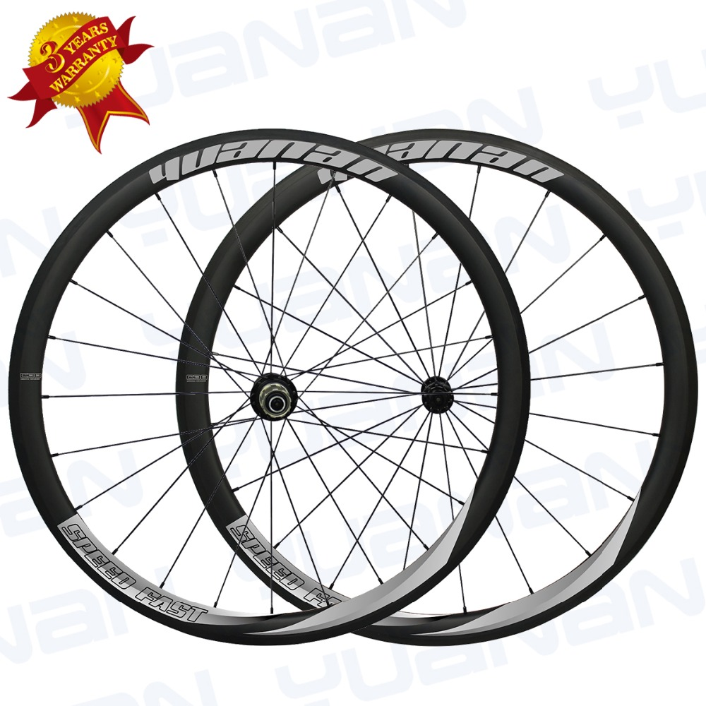 new bicycle carbon wheels 38mm clincher carbon wheelset with straight pull hub and ceramic bearing for professional racing