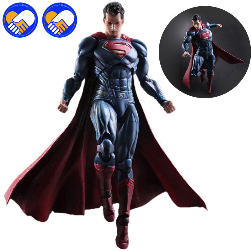 Anime Movie Superman Action Figure Playarts Kai figurine kids hot Toys Collection Model Play arts Kai Super man doll juguetes movie avp aliens vs predator requiem variant action figure playarts figurine toys movie model play arts kai masked scar juguetes