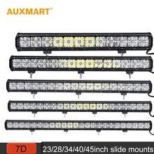 "Auxmart 7D 23 ""28"" 34 ""40"" 45 ""led light bar prosto combo beam offroad lampy jazdy DRL samochodów truck trailer SUV ATV 4×4 4WD Bar"