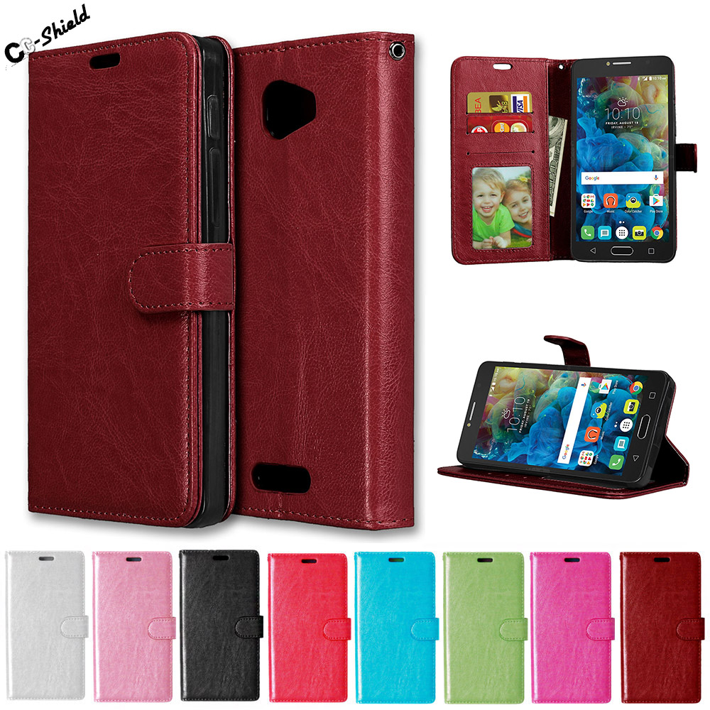 "Flip Case for Alcatel One Touch POP 4S 5.5"" 5095 5095Y OT-5095Y Case Leather Cover for Alcatel POP4S 5095K OT-5095K 5095I Cases"