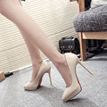 size 34-39 2017 New Fashion High Heels Pumps Sexy Bride Women shoes Square Heel Pointed Toe High Heels women Party Wedding Shoes