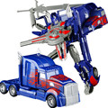 Синий автомобиль Деформации Игрушки Оптимус Прайм Автоботов Модель робота Мальчик игрушки для детей