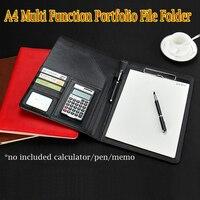 Skóra kieszeni plik folderów klip spoiwa do portfolio papieru A4 foldery plików kartoteka okładka koperta teczka na dokumenty posiadacza menu