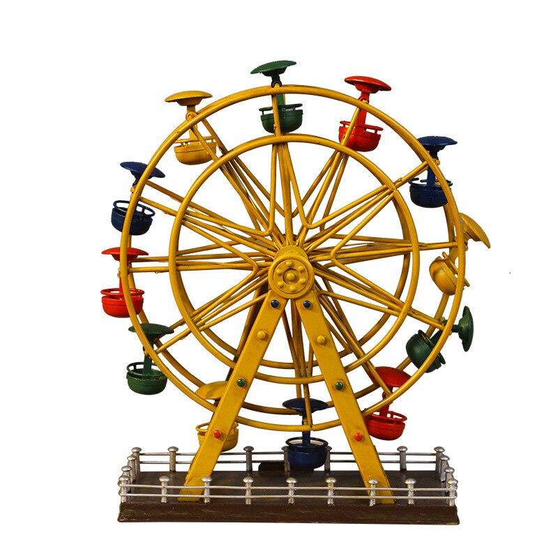 Roda gigante do vintage miniaturas decoração artesanato criativo ferro casal loja de presente sala estar desktop casa acessórios