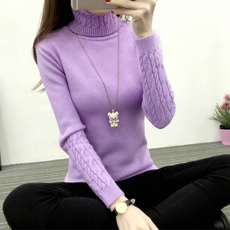 High Quality Women Turtleneck 2019 Winter Sweater Women Cashmere Knitted Women Sweaters And Pullovers Female Jumper Tricot Tops