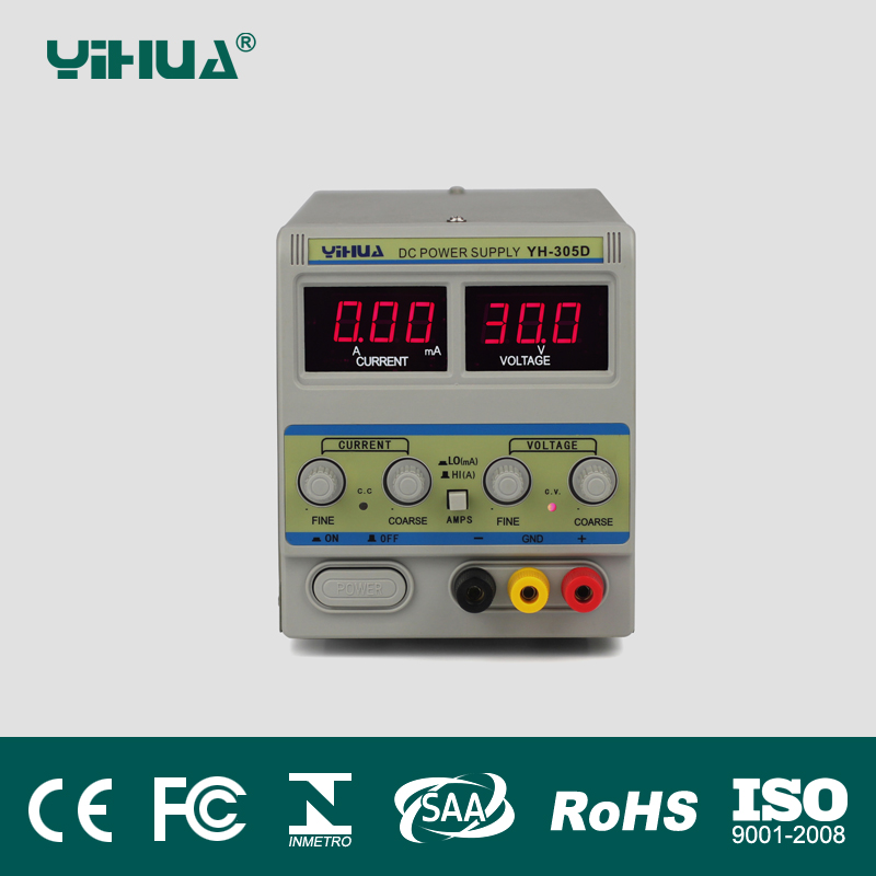 YIHUA-305D DC Power Supply 30V 5A power Adjustable Mobile phone LED Display power test repair 110V 220V regulated power supply yihua 3010d 30v 10a adjustable regulated dc power supply for computer mobile phone repair test