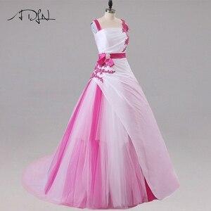 Image 4 - Jiayigong Hàng Mới Về Áo Váy Không Tay Đính Hạt Sequin Táo Chữ A Voan Và Taffeta Áo Cưới Cô Dâu Đầm