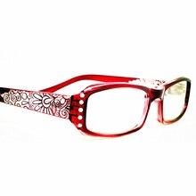 Винтажные стразы, асферические линзы, женские очки для чтения, цветочный принт, женские очки для чтения с бриллиантами, gafas de lectura A1
