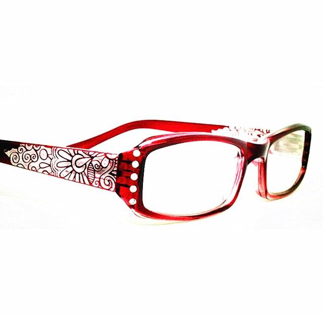 f9c6fa799586 2018 Vintage Rhinestone aspheric lens Women Reading Glasses Floral Print  Lady Glasses Reader with Diamond gafas de lectura A1