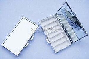 Image 1 - Commercio allingrosso 100 PZ Bianco Rettangolo Pillola Scatole di Metallo Container 7 Griglie Mini Custodia Da Viaggio Portatile DHL LIBERA il Trasporto