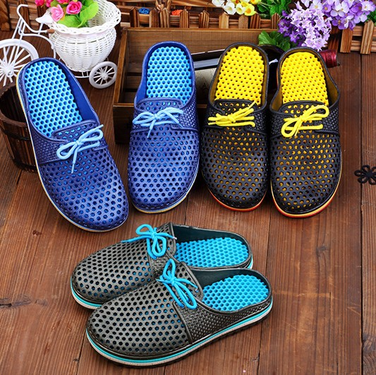 product 2015 Fashion Summer Slippers For Men Garden Clog Shoes Sandals Comfort Beach Lazy Shoes zuecos goma