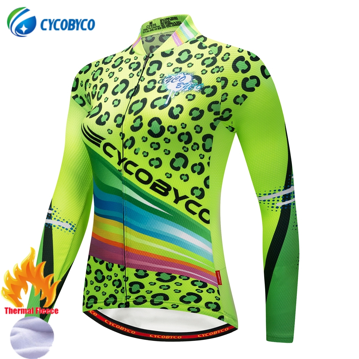 Cycobyco Winter Fleece Women Pro Cycling Jersey Mountian Bike Long Sleeve Clothing Super Warm Thermal Racing Bicycle Sportswear black thermal fleece cycling clothing winter fleece long adequate quality cycling jersey bicycle clothing cc5081