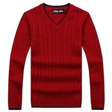 RICHARDROGER 2017 Neue Herbst Mode Pullover V-ausschnitt Gestreiften Slim Fit Strick Herren Pullover Und Pullover Männer Pullover 017