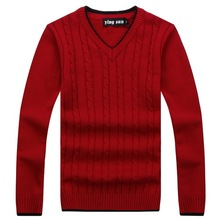 RICHARDROGER  2017 New Autumn Fashion Sweater V-Neck Striped Slim Fit Knitting Mens Sweaters And Pullovers Men Pullover 017