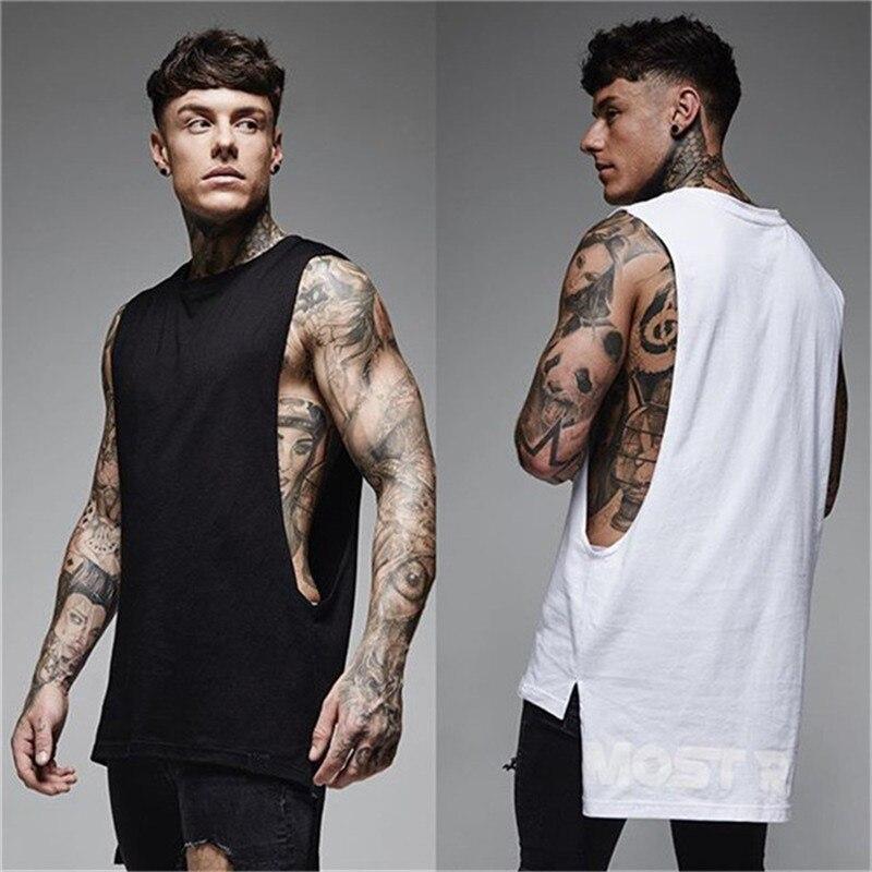 GYMPXINRAN Brandmens sleeveless vest SummerCotton Male Tank Tops gyms Clothing Bodybuilding Undershirt workout Fitness tank tops