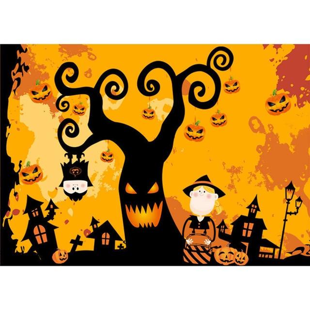 Halloween tree kids wall sticker mural kindergarten window sticker diy removable halloween decora o festa wholesale