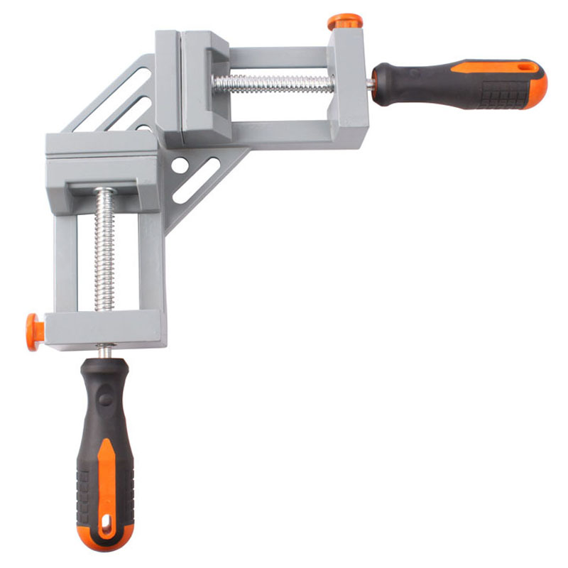 Double handle 90 degree right angle clamp Aluminum alloy Woodworking clamp Fast angle clip ninth world new single handlealuminum 90 degree right angle clamp angle clamp woodworking frame clip right angle folder tool